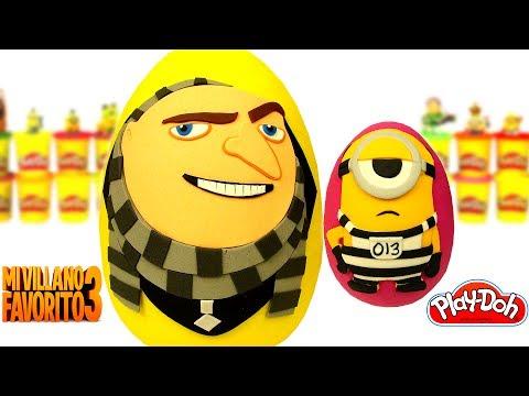 Huevos Sorpresas de Gru y Mel el Minion de Mi Villano Favorito 3 de Plastilina Play Doh