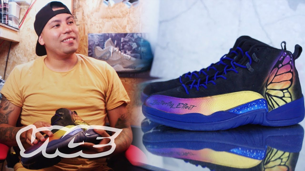 0491223ffa4 Meet The NBA s Favorite Custom Shoe Artist - YouTube