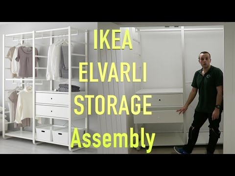 IKEA ELVARLI WARDROBE  Storage Assembly