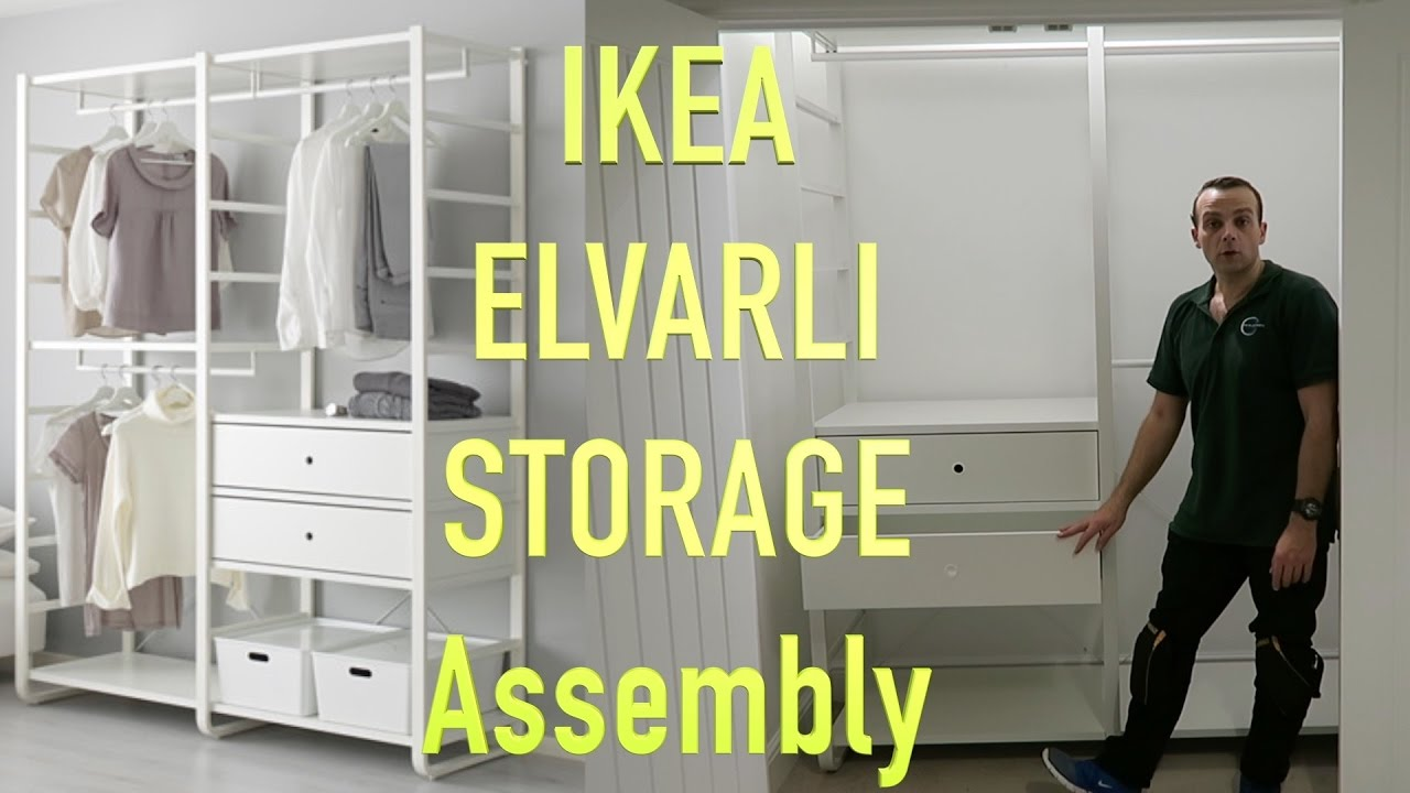 IKEA ELVARLI WARDROBE storage Assembly - YouTube