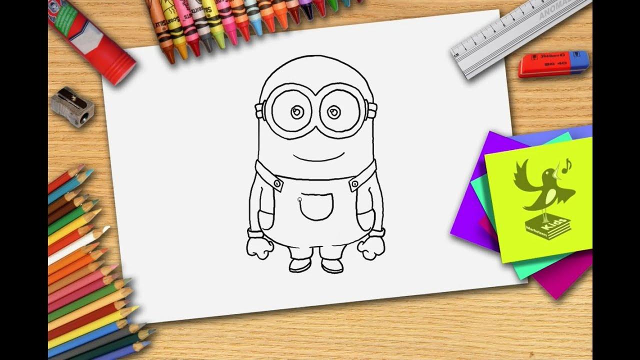 Hoe teken je een minion zelf minions leren tekenen youtube - Hoe om kleuren te maken ...