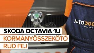 SKODA OCTAVIA Kormány gömbfej beszerelése: videó útmutató