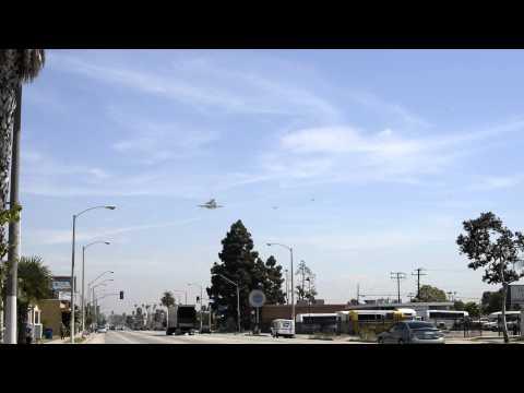 Shuttle Flying over Century Blvd.