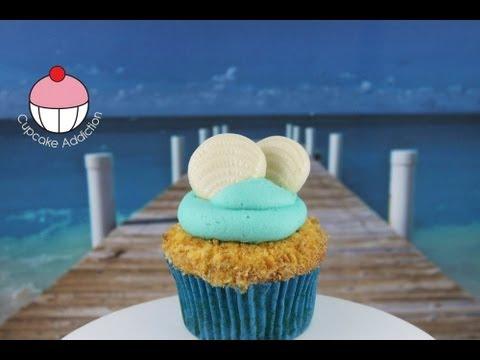 Beach Cupcakes! Decorate Summer Beach Cupcakes - A Cupcake Addiction How To Tutorial