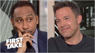 Stephen A. puts Ben Affleck on the spot about Tom Brady | First Take
