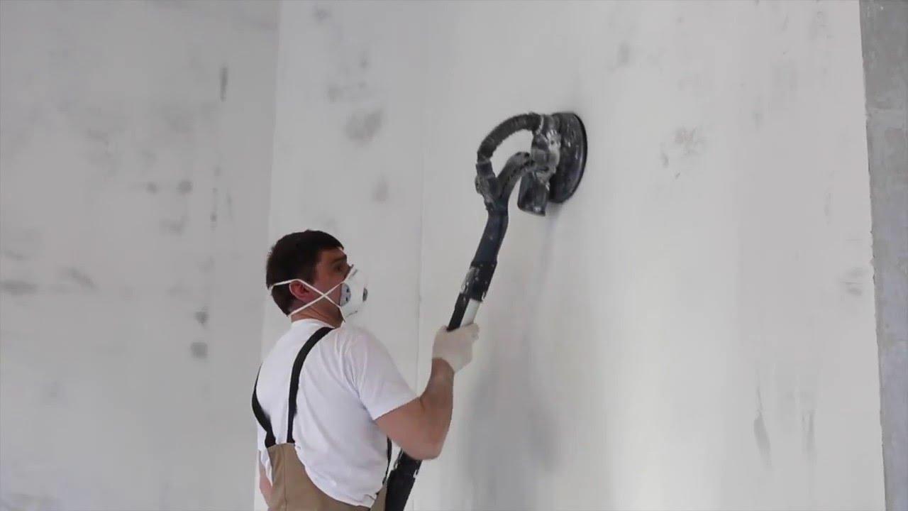 Шлифовка шпатлевки стен транспортные телеги для окраски фасадов