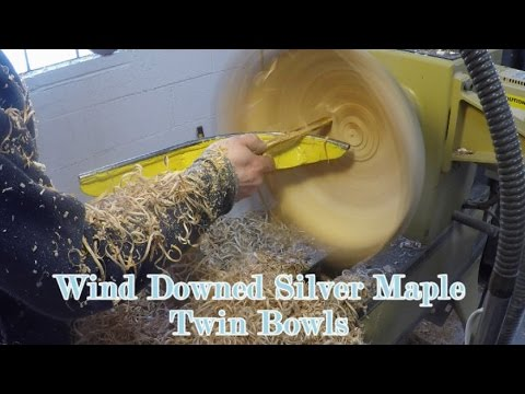 Woodturning - Twin Silver Maple Bowls