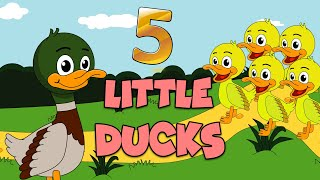 5 Little Ducks | Nursery Rhymes And Kids Songs | Puppy Hey Hey