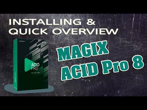 Installing MAGIX ACID Pro 8 & Quick Overview