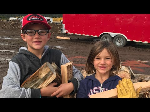 Kids Harvesting Firewood. Chopping, Splitting, Stacking, and a Quote from LDS Conference Says It All