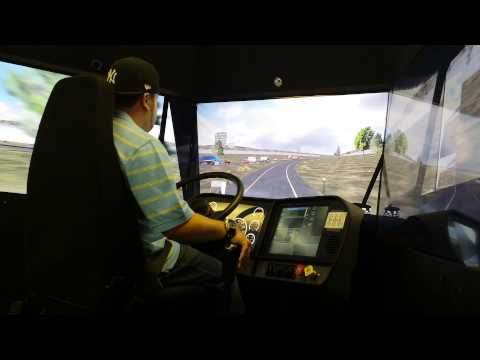 The Little Guy Driving The Training Simulator At Prime Inc