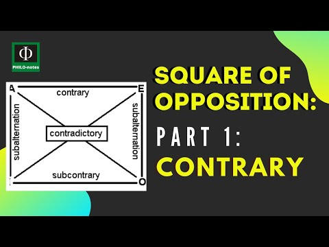 Square of Opposition (Part 1): Contrary - PHILO-notes Whiteboard Edition