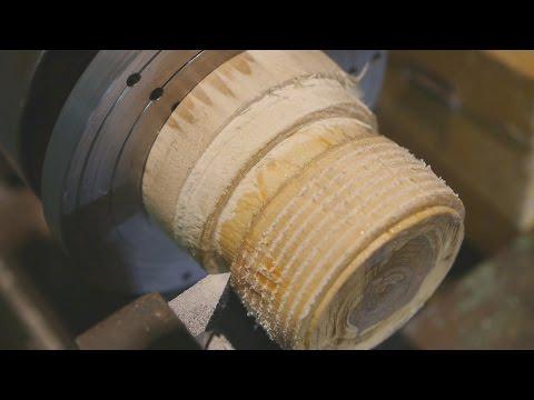 Sliding spindle wood threading