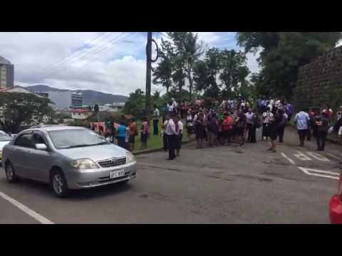 Fiji Tsunami videos of people moving to higher grounds on the 4th January,2017.