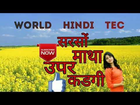 Super Hit Meena Song सरसों माथा उपर चढगी ,,by World Hindi Tec ,wht