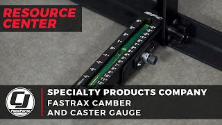 Specialty Products Company: FasTrax Camber and Caster Gauge