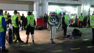 24H Dubai 2010 Pitstop car nr 2 after 10 hours race
