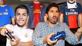 PLAYING FIFA 16 WITH FOOTBALLERS ft. Ronaldo, Messi, Diego Costa, Pepe | Footy Friends