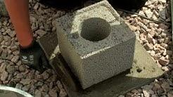 Terassin perustusten rakentaminen pontatuilla Leca®-pilariharkoilla