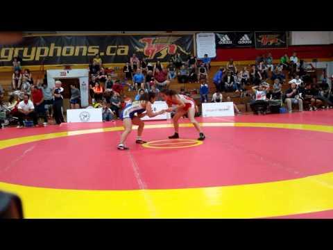 2015 Canada Cup: 53 kg Madison Parks (CAN) vs. Miyuu Yamamoto (JPN)