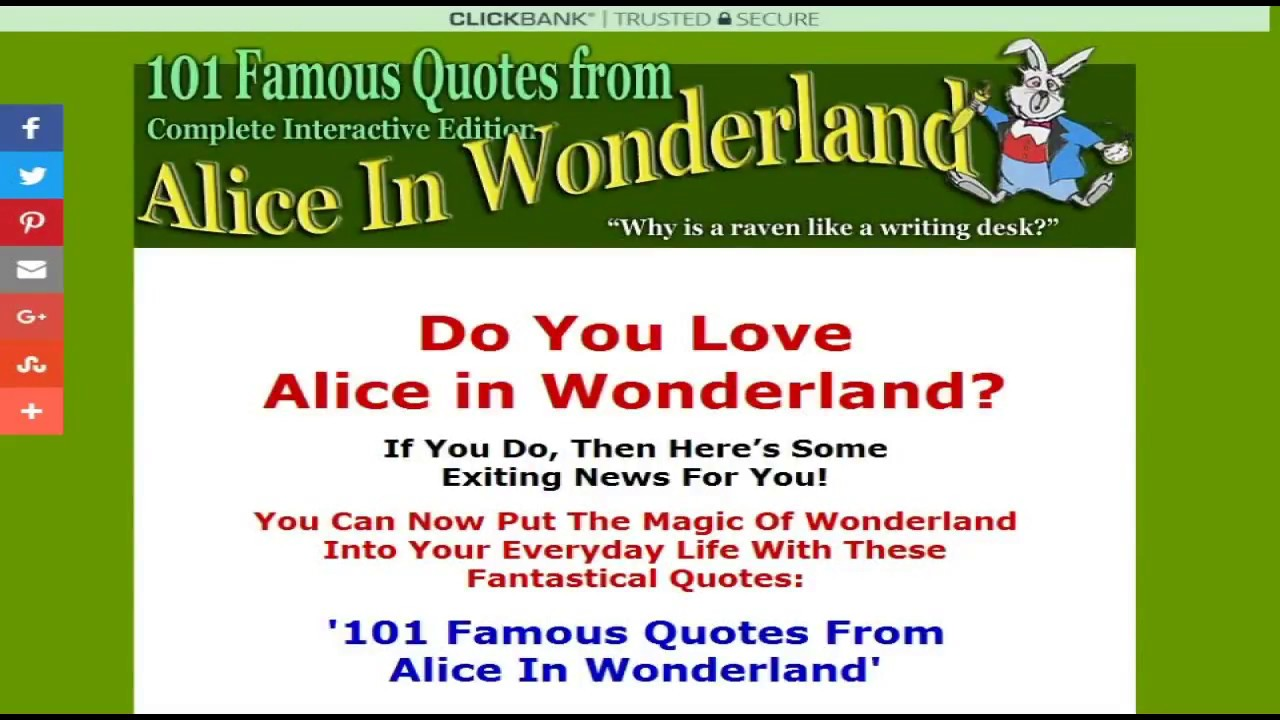 Image of: Mad Hatter 101 Famous Quotes From Alice In Wonderland Youtube 101 Famous Quotes From Alice In Wonderland Youtube