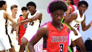 Zaire Wade VS Josh Christopher at EYBL INDY! HALFCOURT Buzzer Beater + Rim Almost BREAKS From Dunk