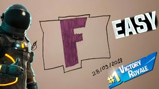 How to Draw Easy Fortnite Logo