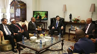 زيارة رئيس حكومة الإنقاذ الوطني إلى جمهورية جنوب أفريقيا.