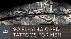 90 Playing Card Tattoos For Men
