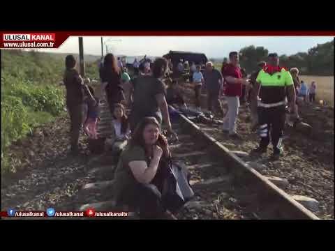 Son Dakika: Tekirdağ Çorlu'daki tren kazasından ilk görüntüler