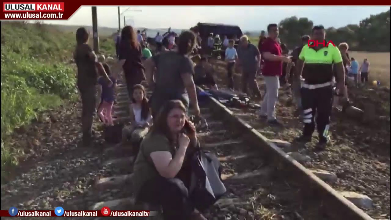 Son Dakika Tekirdağ çorludaki Tren Kazasından Ilk Görüntüler Youtube