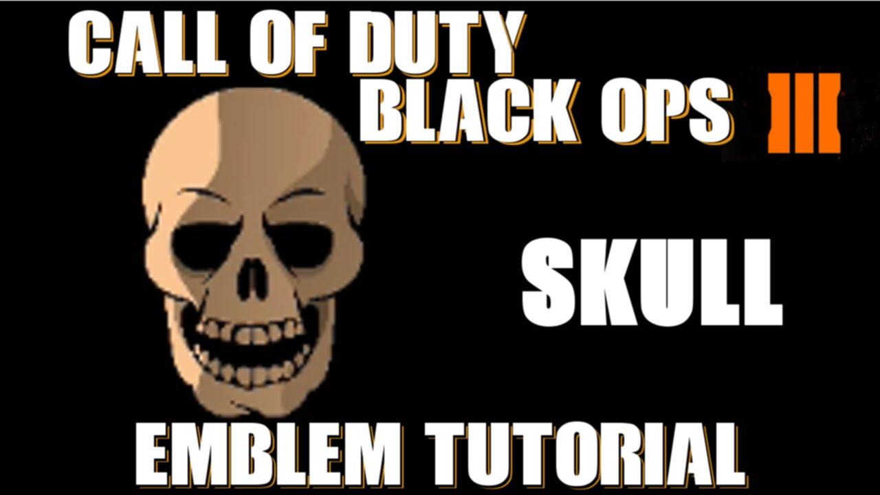 COD BO3 Call Of Duty Black Ops 3 Skull Emblem Tutorial