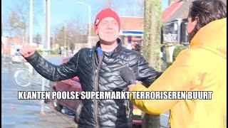 Klanten Poolse supermarkt terroriseren buurt