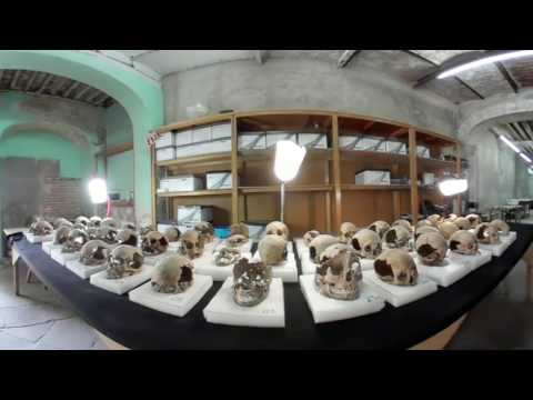 360° footage captures Aztec skull tower found in Mexico City