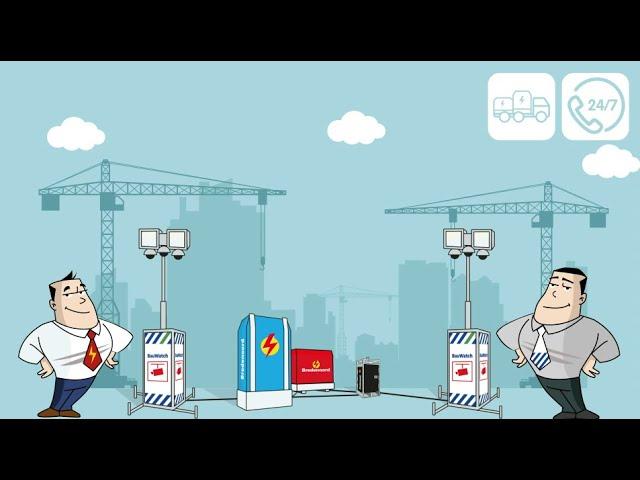 Bredenoord und BauWatch präsentieren B-Safe! Mietpaket. Strom und Sicherheit für Ihre Baustelle.