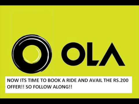 Thumbnail: Ola Cabs free ride Rs.300 coupon code
