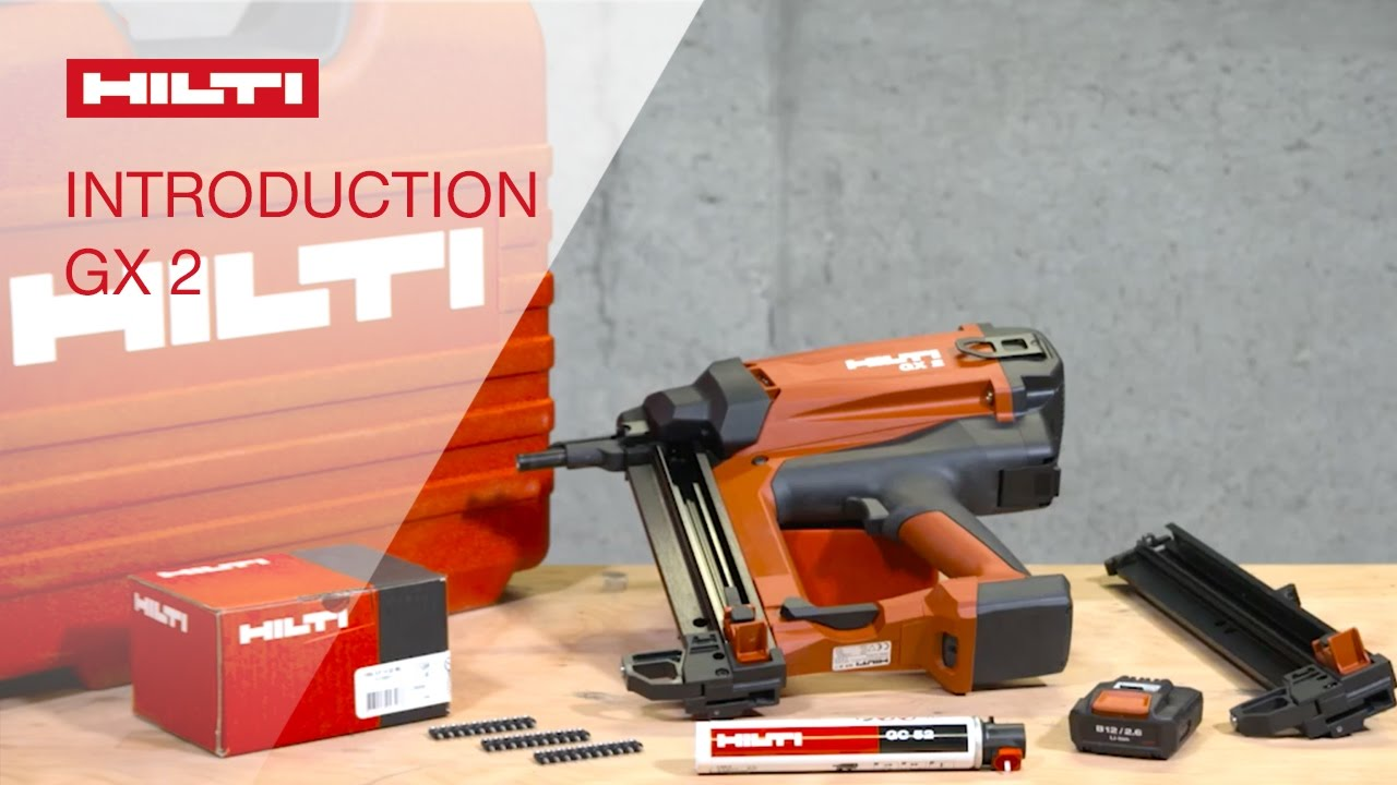 INTRODUCTION To Using The Hilti Gas Actuated Fastening Tool GX 2
