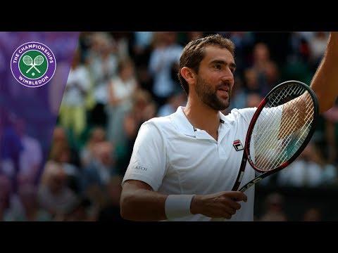 Marin Cilic celebrates beating Querrey to reach first Wimbledon final