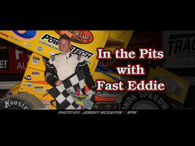 In the Pits with Fast Eddie Jeff Trombley CRSA Feature Win Interview