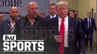 Donald Trump Arriving at UFC 264, Cheered by Fans | TMZ Sports