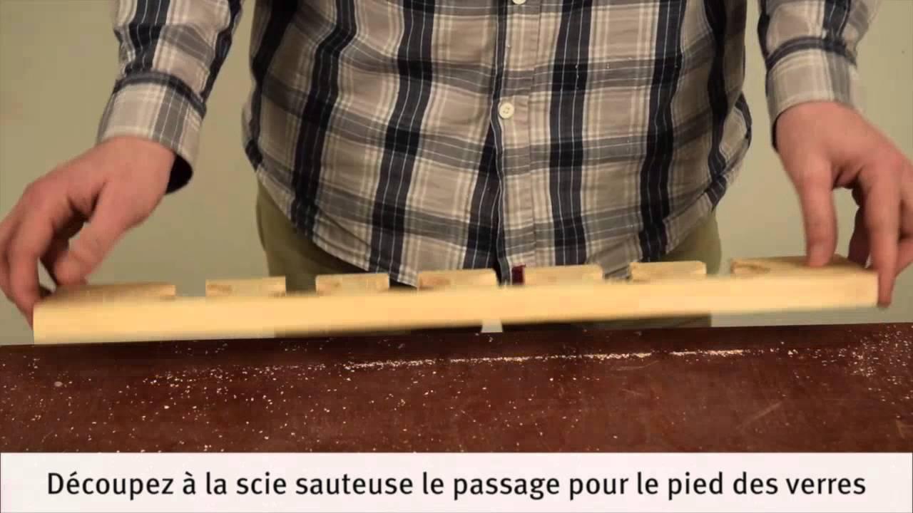 Awesome Support Verre A Pied Pour Bar #4: Réalisation Du0027un Porte-verre En Bois