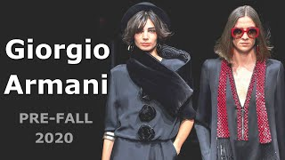 Giorgio Armani Pre Fall 2020 Мода в Милане Одежда сумки и аксессуары