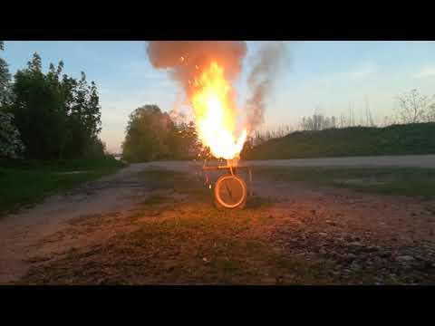 Aluminium/Epoxy/KClO3 - first motor testings