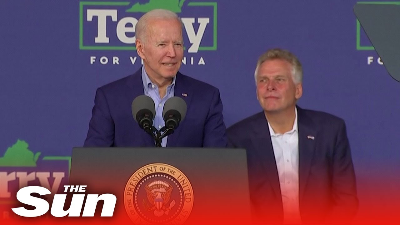 Biden tests political power as he campaigns for Democratic candidate for Virginia Terry McAuliffe