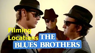 The Blues Brothers ( filming location ) Belushi Aykroyd Landis 1980