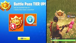 How to Unlock FREE BATTLE STAR! TIER 100 FAST! (Fortnite Battle Royale) | Blockbuster Skin Challenge