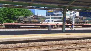 용산발 익산행 리마을 #1155 평택역 통과영상, 의왕행 군사화물 7428 디젤기관차 견인영상