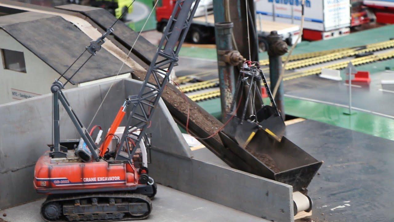 rc crane excavator gb 2023 welt des modellbaus xxl h rtel osnabr ck youtube. Black Bedroom Furniture Sets. Home Design Ideas