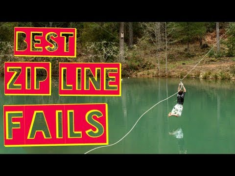 BEST ZIP LINE FAILS   Funny Fail Compilation