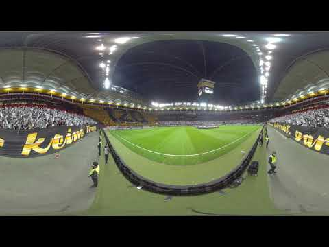 360 Grad Geburtstags-Choreo vor Europa League-Spiel